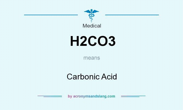What does H2CO3 mean? It stands for Carbonic Acid