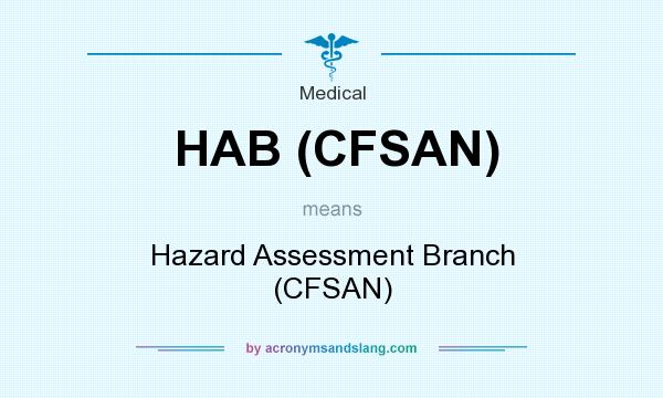 What does HAB (CFSAN) mean? It stands for Hazard Assessment Branch (CFSAN)