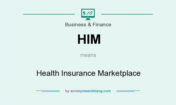 What does HIM mean? It stands for Health Insurance Marketplace