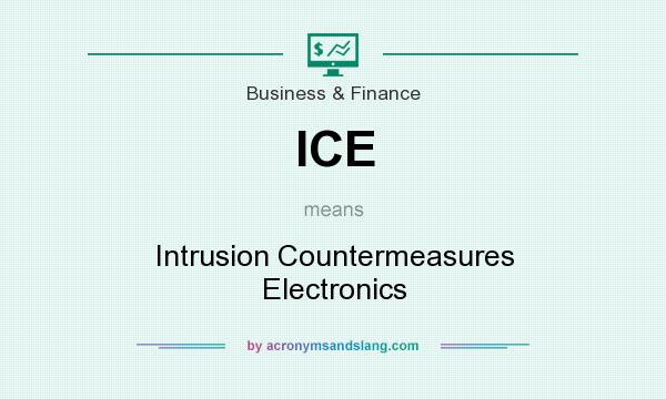 What does ICE mean? It stands for Intrusion Countermeasures Electronics