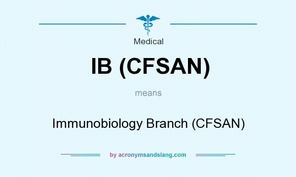 What does IB (CFSAN) mean? It stands for Immunobiology Branch (CFSAN)