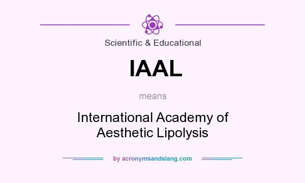 What does IAAL mean? It stands for International Academy of Aesthetic Lipolysis