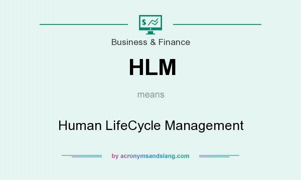 What does HLM mean? It stands for Human LifeCycle Management