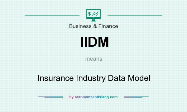 What does IIDM mean? It stands for Insurance Industry Data Model