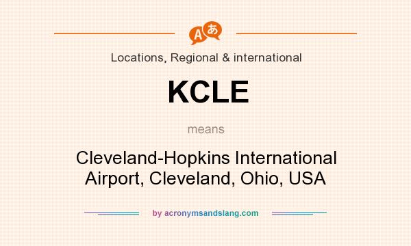 What does KCLE mean? It stands for Cleveland-Hopkins International Airport, Cleveland, Ohio, USA