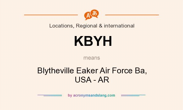 What does KBYH mean? It stands for Blytheville Eaker Air Force Ba, USA - AR