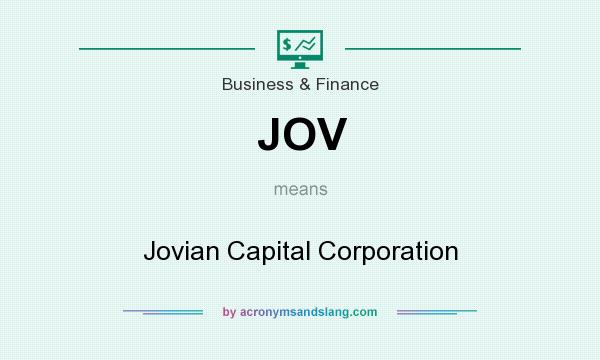 What does JOV mean? It stands for Jovian Capital Corporation