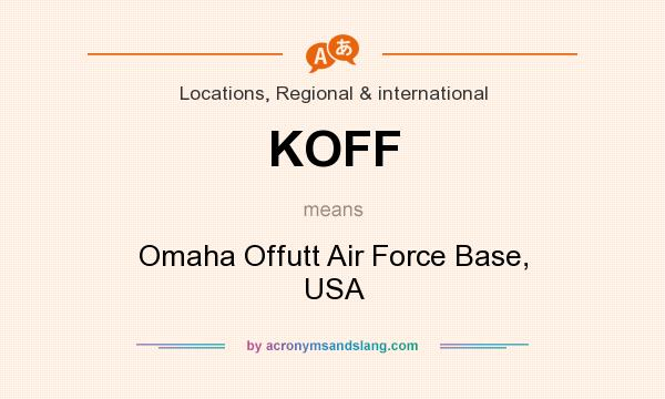 What does KOFF mean? It stands for Omaha Offutt Air Force Base, USA