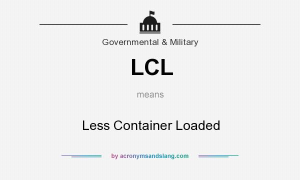 What does LCL mean? It stands for Less Container Loaded
