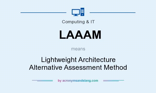 What does LAAAM mean? It stands for Lightweight Architecture Alternative Assessment Method