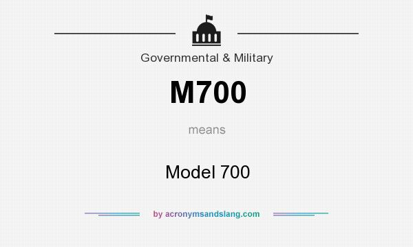 What does M700 mean? It stands for Model 700