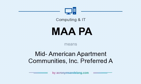 What does MAA PA mean? It stands for Mid- American Apartment Communities, Inc. Preferred A