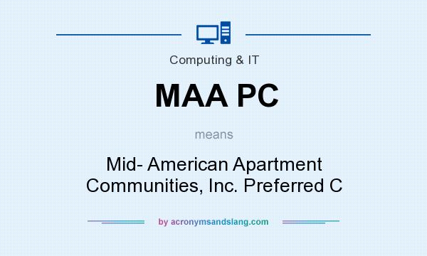 What does MAA PC mean? It stands for Mid- American Apartment Communities, Inc. Preferred C