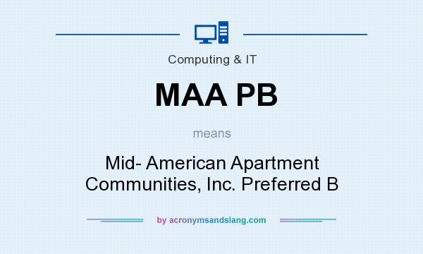 What does MAA PB mean? It stands for Mid- American Apartment Communities, Inc. Preferred B
