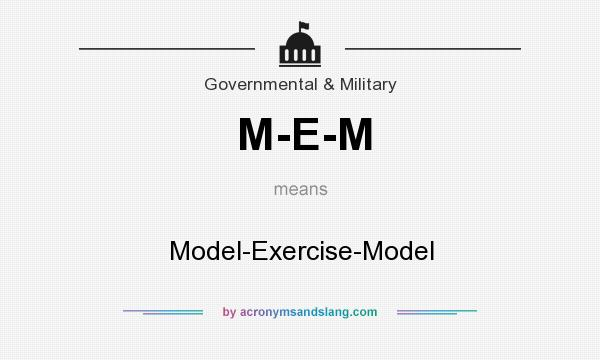 What does M-E-M mean? It stands for Model-Exercise-Model