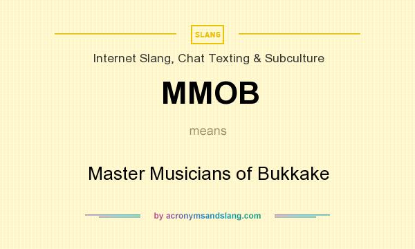 What phrase..., what does bukkake mean amusing piece
