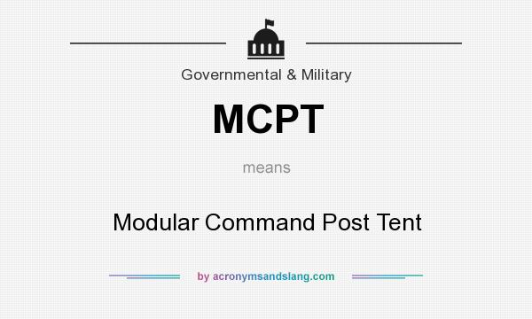 MCPT - Modular Command Post Tent in Government & Military by
