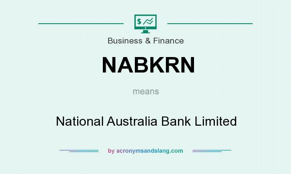 What does NABKRN mean? It stands for National Australia Bank Limited