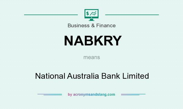 What does NABKRY mean? It stands for National Australia Bank Limited