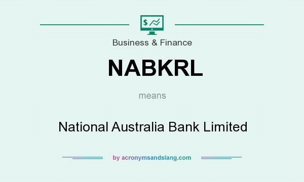What does NABKRL mean? It stands for National Australia Bank Limited