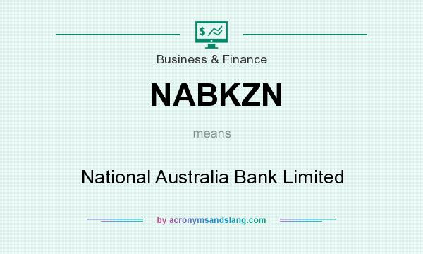 What does NABKZN mean? It stands for National Australia Bank Limited