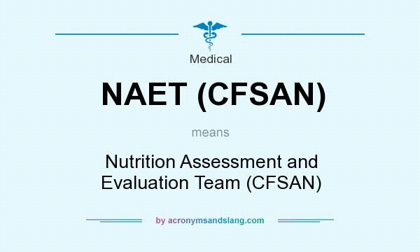 What does NAET (CFSAN) mean? It stands for Nutrition Assessment and Evaluation Team (CFSAN)