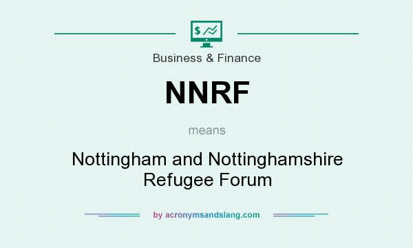 What does NNRF mean? It stands for Nottingham and Nottinghamshire Refugee Forum