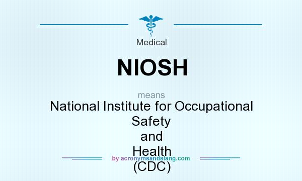 What does NIOSH mean? It stands for National Institute for Occupational Safety and Health (CDC)