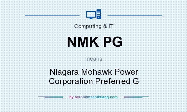 What does NMK PG mean? It stands for Niagara Mohawk Power Corporation Preferred G