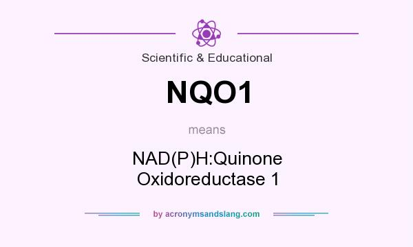 What does NQO1 mean? It stands for NAD(P)H:Quinone Oxidoreductase 1