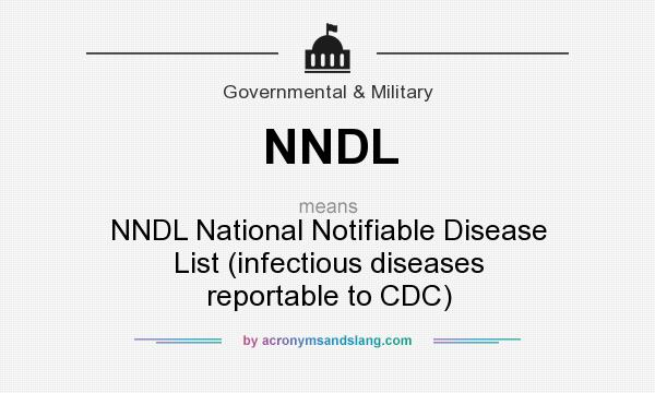 NNDL - NNDL National Notifiable Disease List (infectious diseases