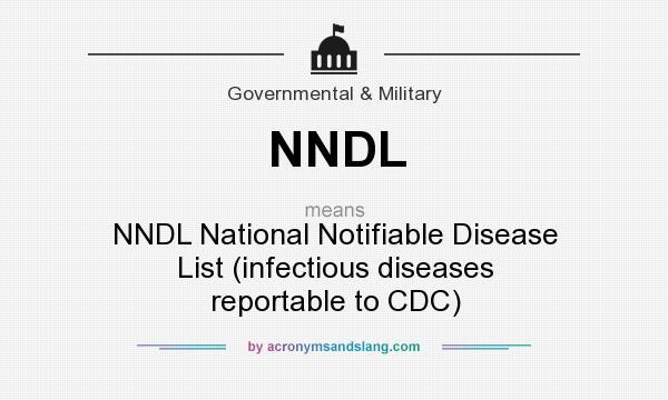 Cdc Infectious Disease List