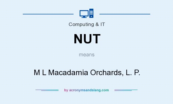 What does NUT mean? It stands for M L Macadamia Orchards, L. P.