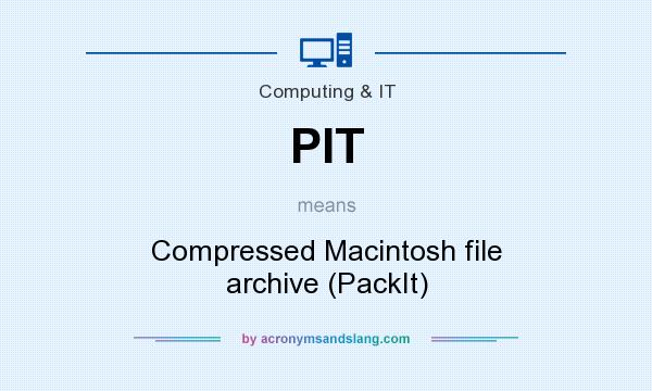 What does PIT mean? It stands for Compressed Macintosh file archive (PackIt)