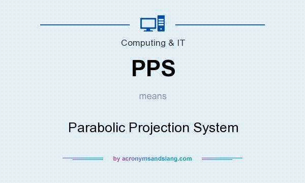 What does PPS mean? It stands for Parabolic Projection System