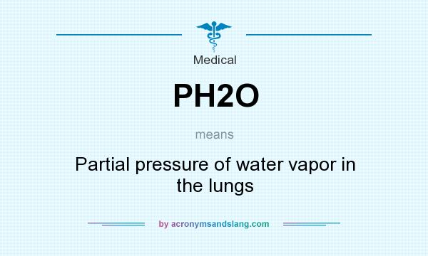 What does PH2O mean? It stands for Partial pressure of water vapor in the lungs