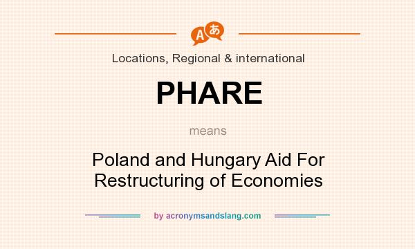 What does PHARE mean? It stands for Poland and Hungary Aid For Restructuring of Economies