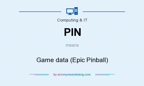 What does PIN mean? It stands for Game data (Epic Pinball)