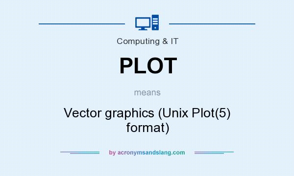What does PLOT mean? It stands for Vector graphics (Unix Plot(5) format)