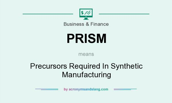 What does PRISM mean? It stands for Precursors Required In Synthetic Manufacturing