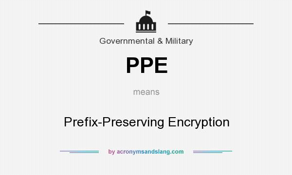 What does PPE mean? It stands for Prefix-Preserving Encryption