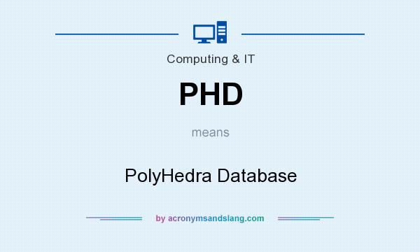 What does PHD mean? It stands for PolyHedra Database