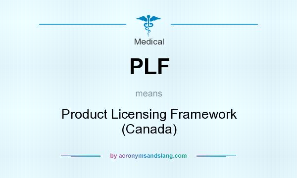 What does PLF mean? It stands for Product Licensing Framework (Canada)
