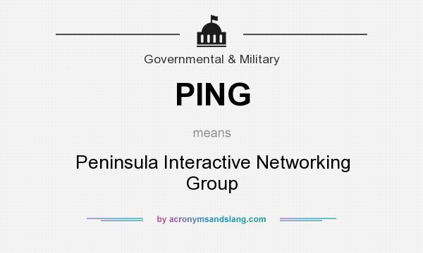 What does PING mean? It stands for Peninsula Interactive Networking Group
