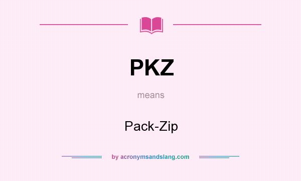 What does PKZ mean? It stands for Pack-Zip
