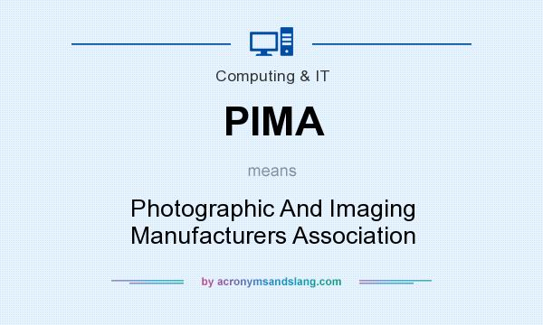 What does PIMA mean? It stands for Photographic And Imaging Manufacturers Association