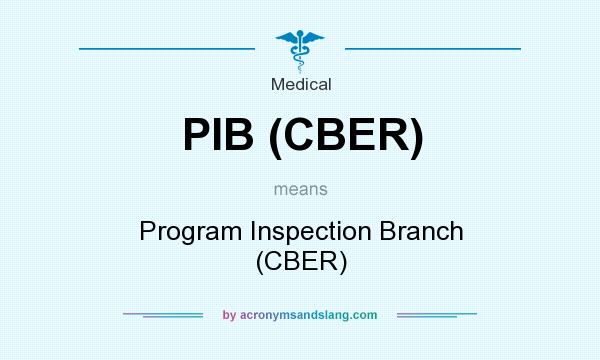 What does PIB (CBER) mean? It stands for Program Inspection Branch (CBER)