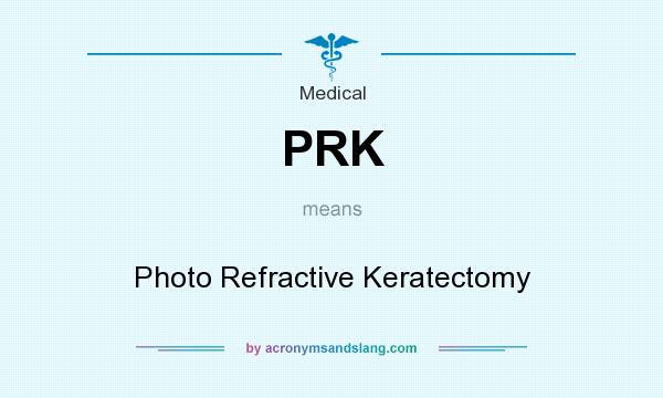 What does PRK mean? It stands for Photo Refractive Keratectomy