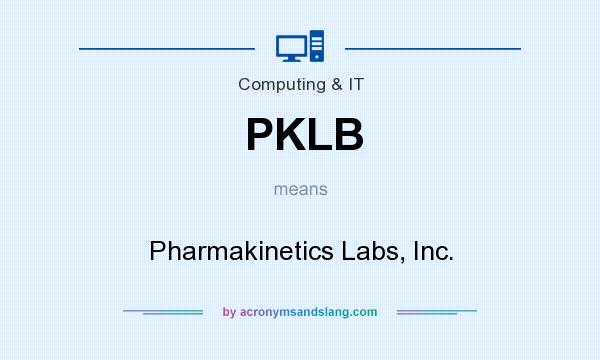 What does PKLB mean? It stands for Pharmakinetics Labs, Inc.