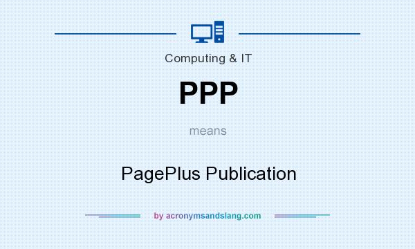 What does PPP mean? It stands for PagePlus Publication